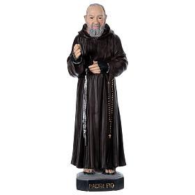Imagens em Gesso: Padre Pio 45 cm gesso