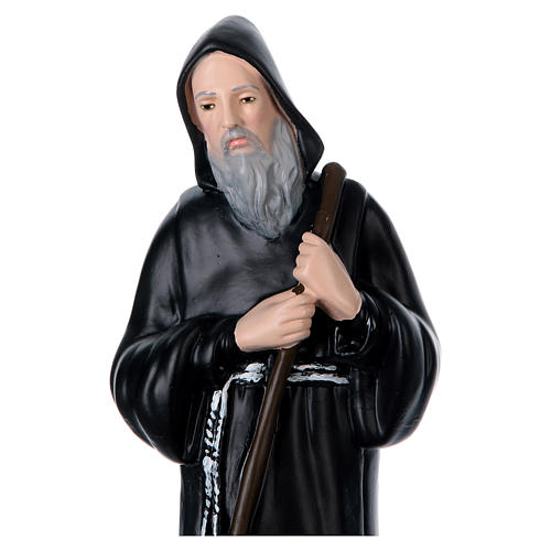 St Francis of Paola 40 cm in plaster 2