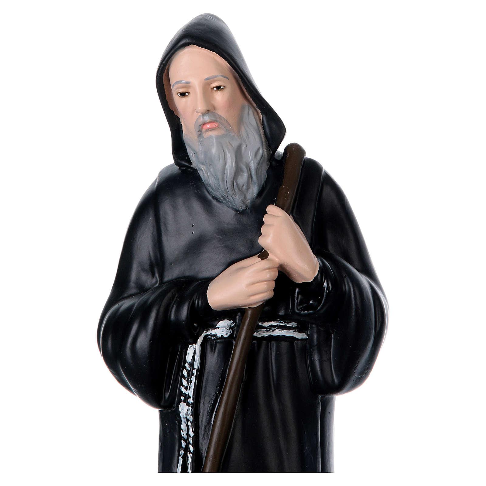 Estatua yeso San Francisco de Paula h 40 cm 4