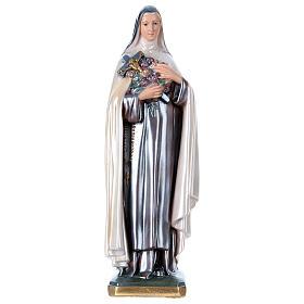 Imagens em Gesso: Imagem Santa Teresa gesso nacarado 40 cm