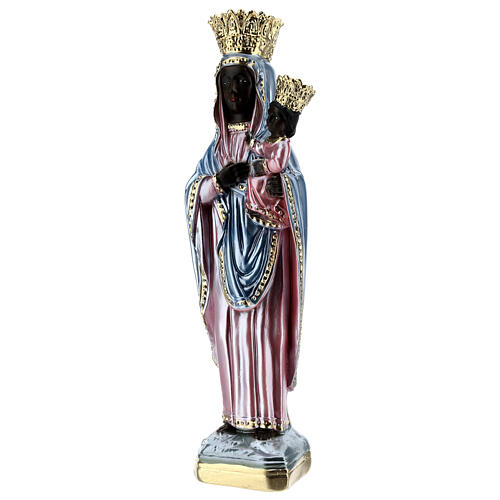 Our Lady of Czestochowa 35 cm in mother-of-pearl plaster 3