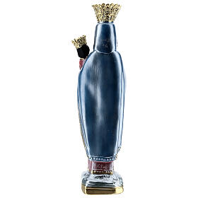 Estatua yeso nacarado Virgen de Czestochowa 35 cm s5