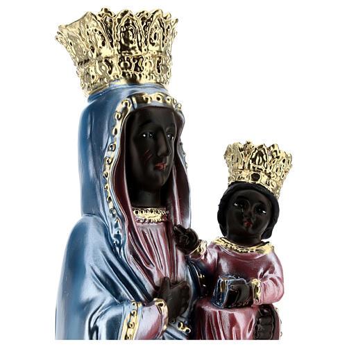 Estatua yeso nacarado Virgen de Czestochowa 35 cm 2