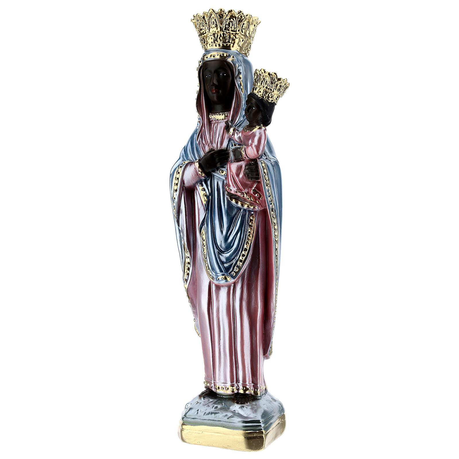 Statua gesso madreperlato Madonna di Czestochowa 35 cm 4