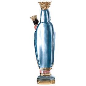 Statua gesso madreperlato Madonna di Czestochowa 35 cm s4
