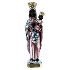 Statua gesso madreperlato Madonna di Czestochowa 35 cm s1