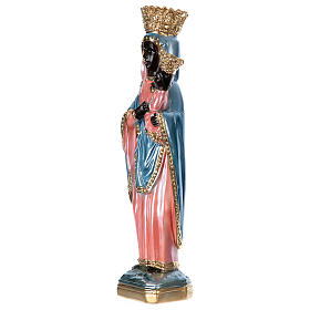 Statue of Our Lady of Czestochowa, 35 cm in plaster with mother of pearl s3