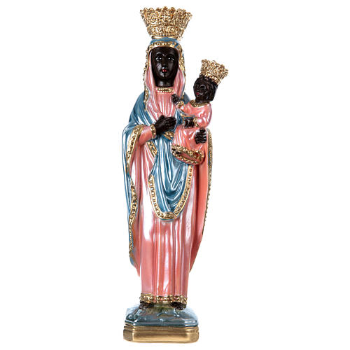 Statue of Our Lady of Czestochowa, 35 cm in plaster with mother of pearl 1