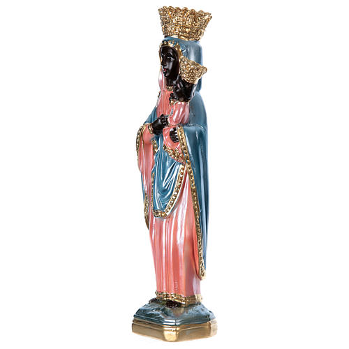 Statue of Our Lady of Czestochowa, 35 cm in plaster with mother of pearl 3