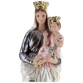 Estatua de yeso nacarado Virgen del Carmen 40 cm s2