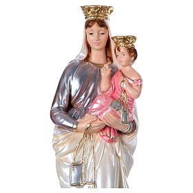 Statua in gesso madreperlato Madonna del Carmelo 40 cm s2