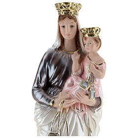 Our Lady of Mt. Carmel 40 cm Statue, in plaster with mother of pearl s2