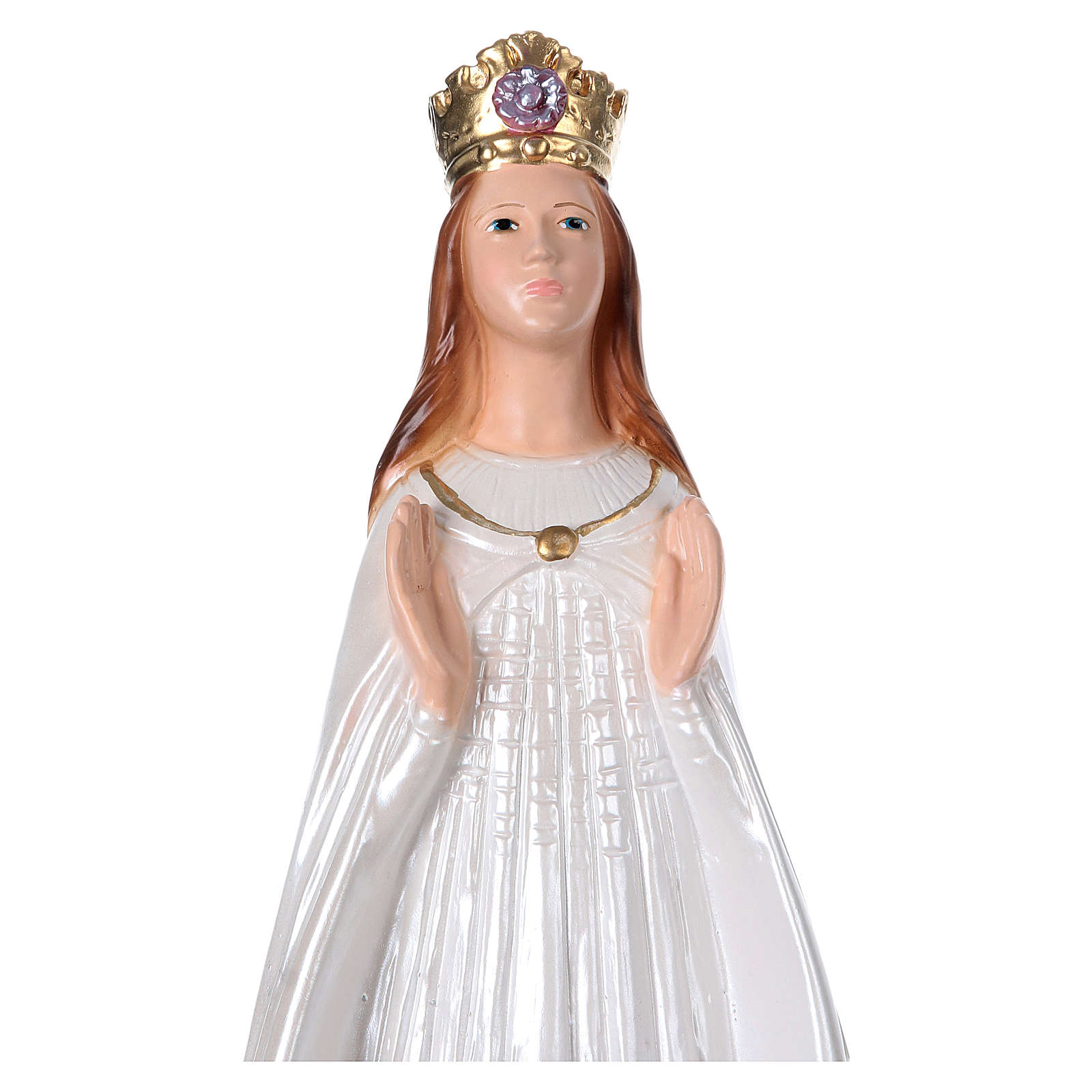 Our Lady of Knock statue in pearlized plaster, 40 cm 4