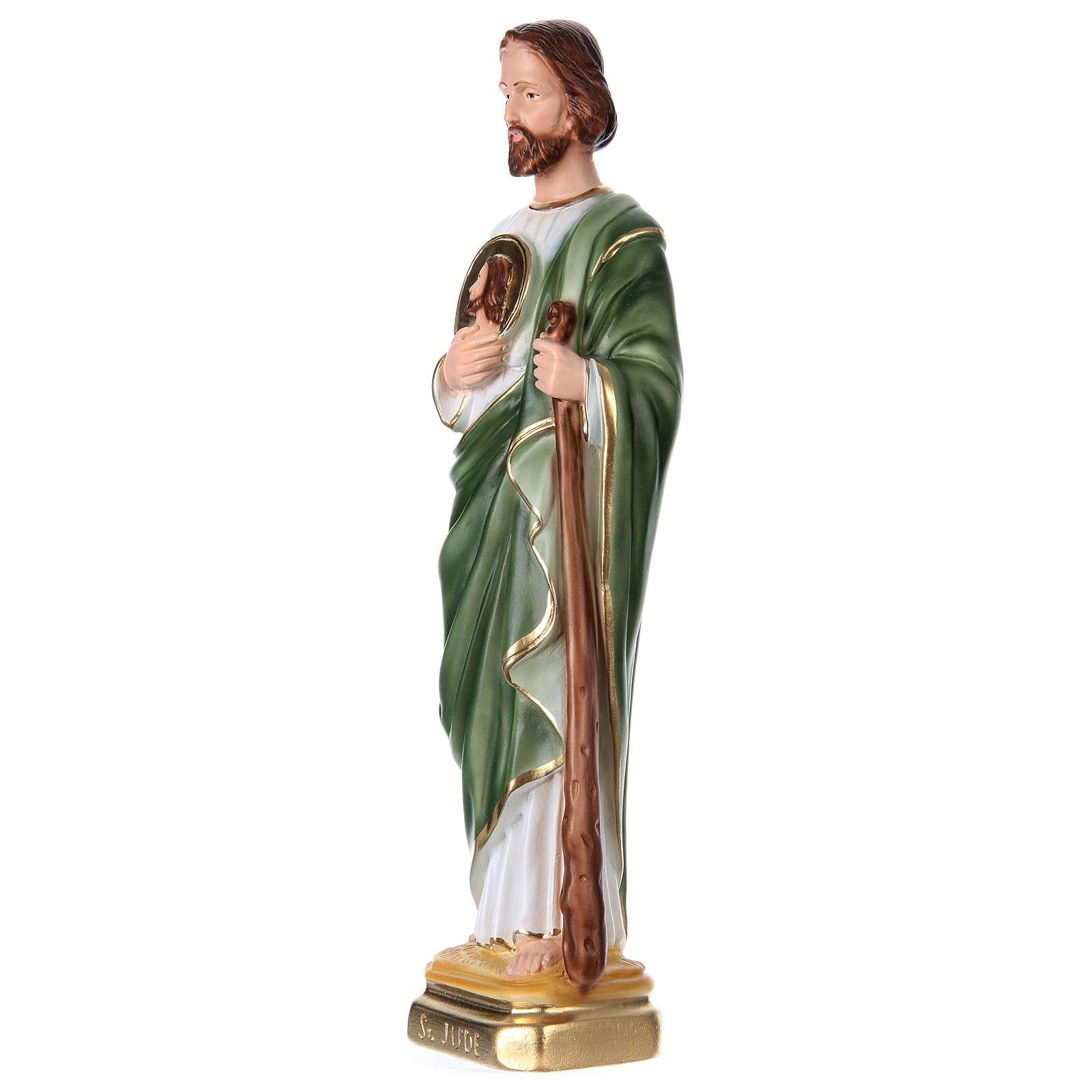 San Giuda 40 cm gesso dipinto 4