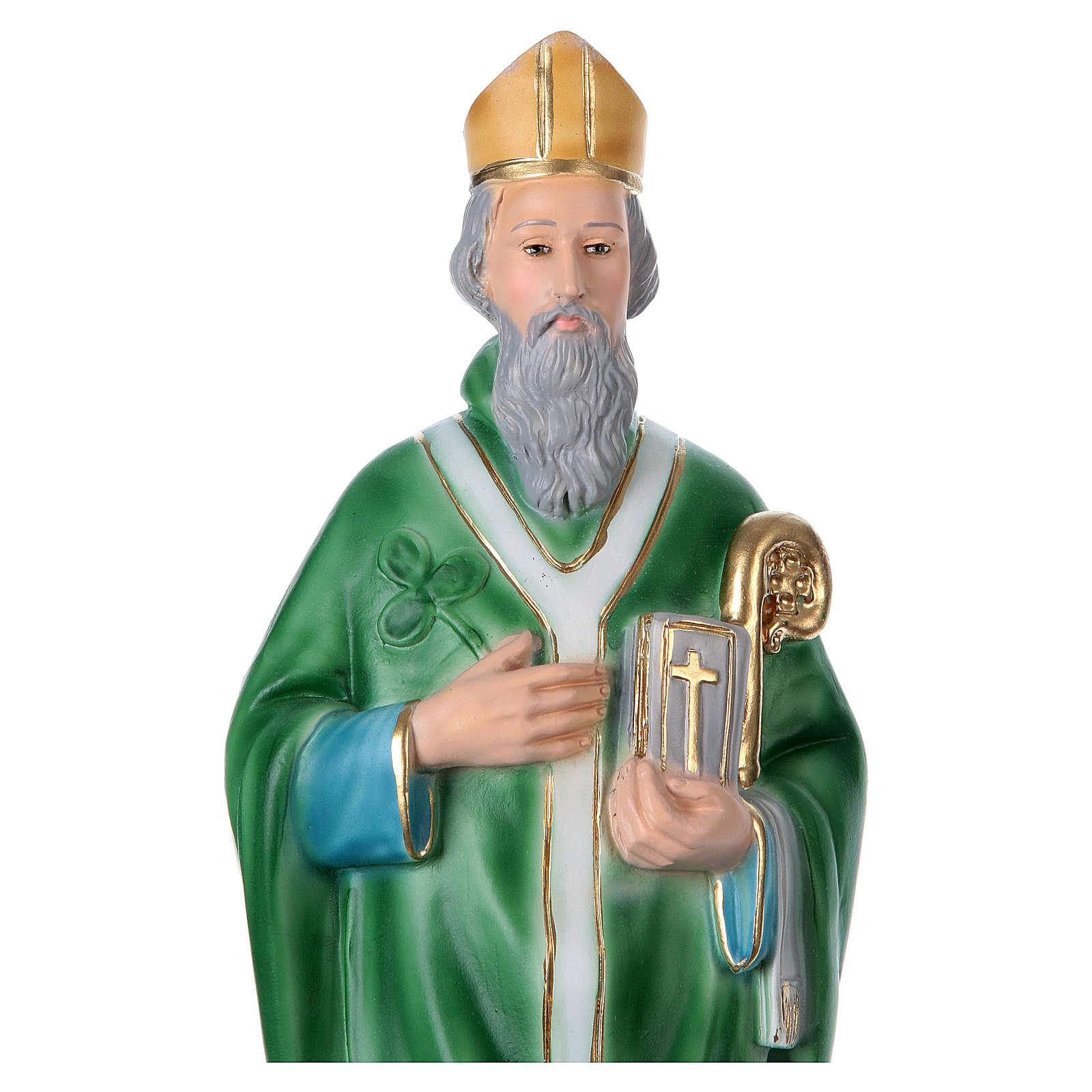 St Patrick 40 cm in plaster 4