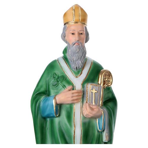 St Patrick 40 cm in plaster 2