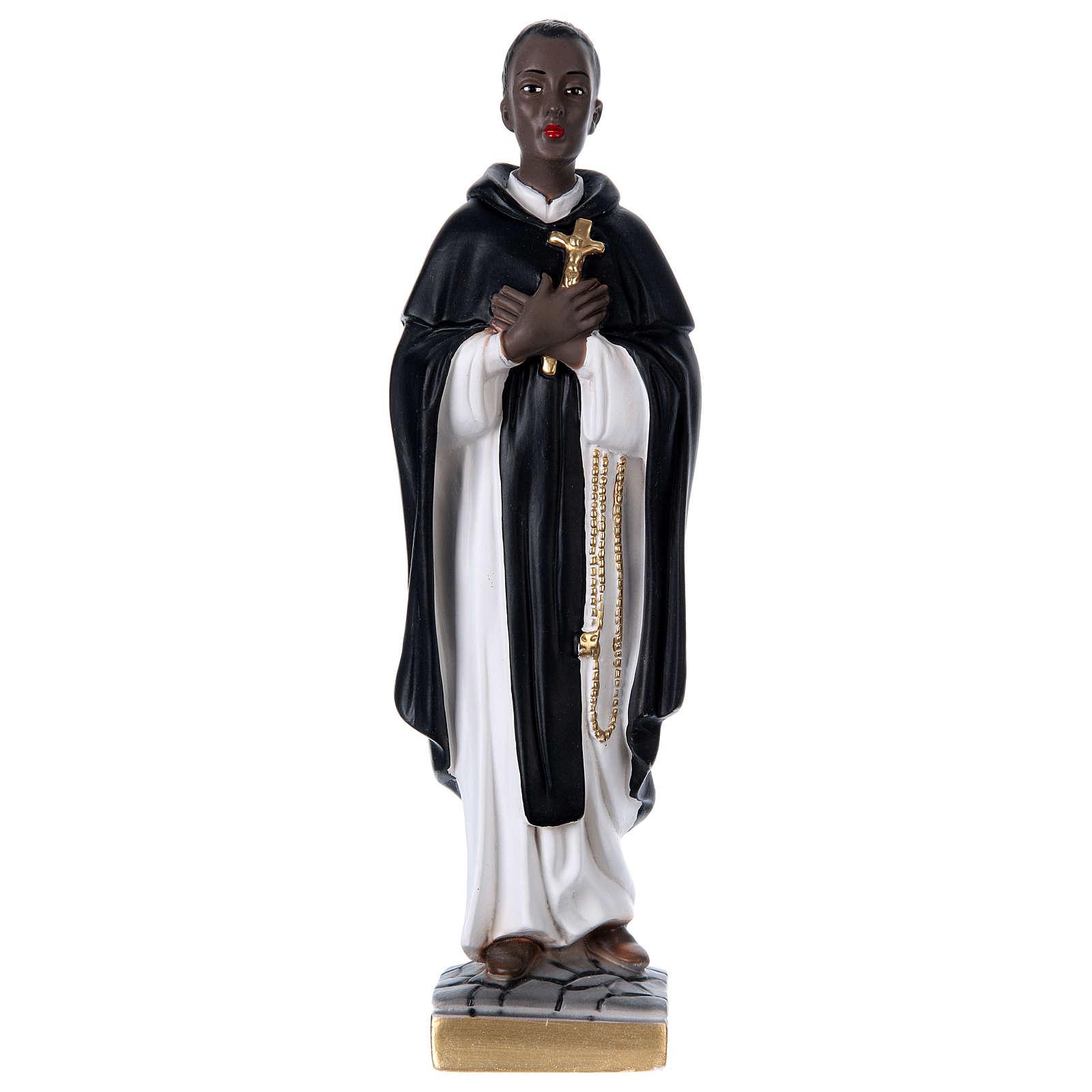 San Martino di Porres gesso 40 cm 4