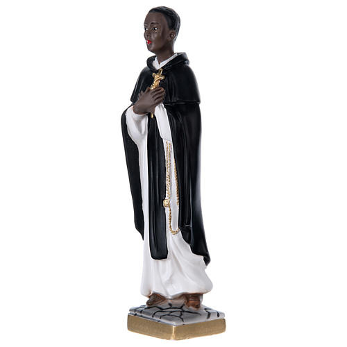 San Martino di Porres gesso 40 cm 3