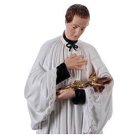 San Luigi 40 cm in gesso dipinti s2