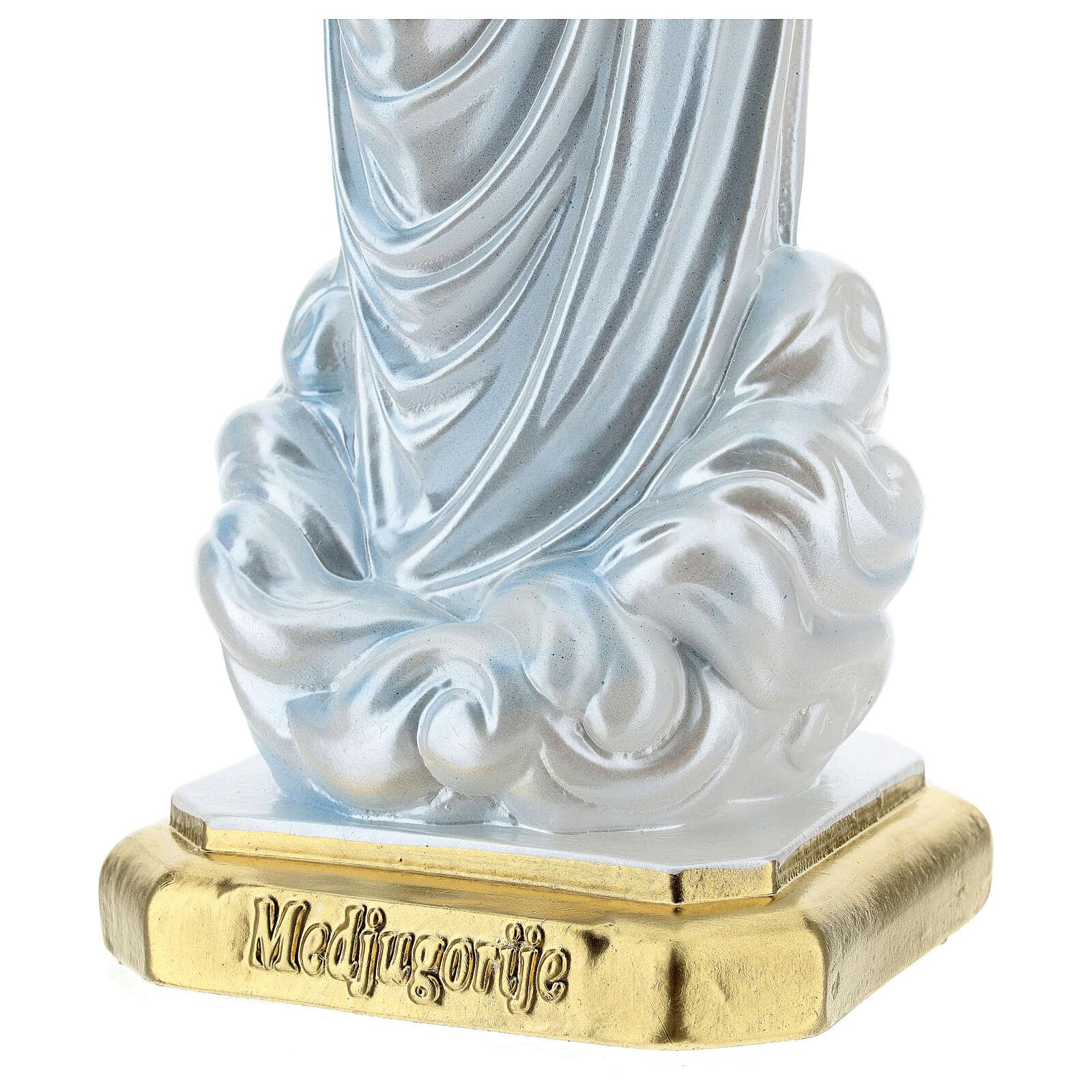Virgen de Medjugorje 40 cm yeso nacarado 4
