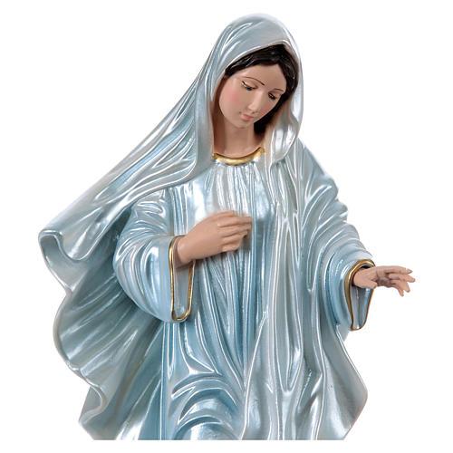 Virgen de Medjugorje 40 cm yeso nacarado 2