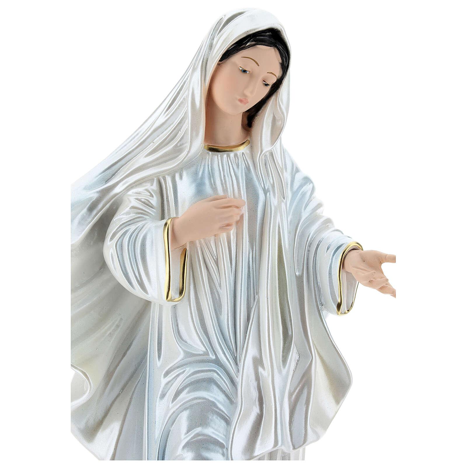 Notre-Dame de Medjugorje 40 cm plâtre nacré 4