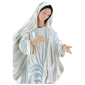 Our Lady of Medjugorje Statue, 40 cm, in plaster with mother of pearl s2
