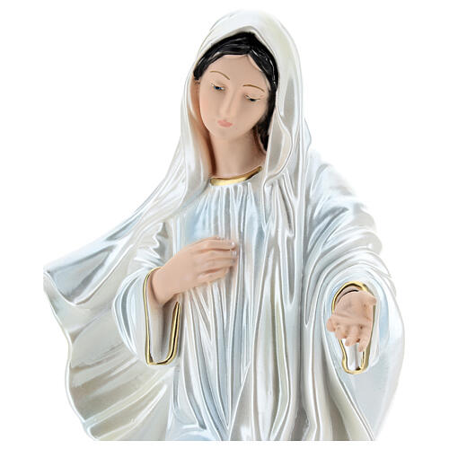 Our Lady of Medjugorje Statue, 40 cm, in plaster with mother of pearl 4