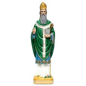 Saint Patrick h 60 cm statue en plâtre s1