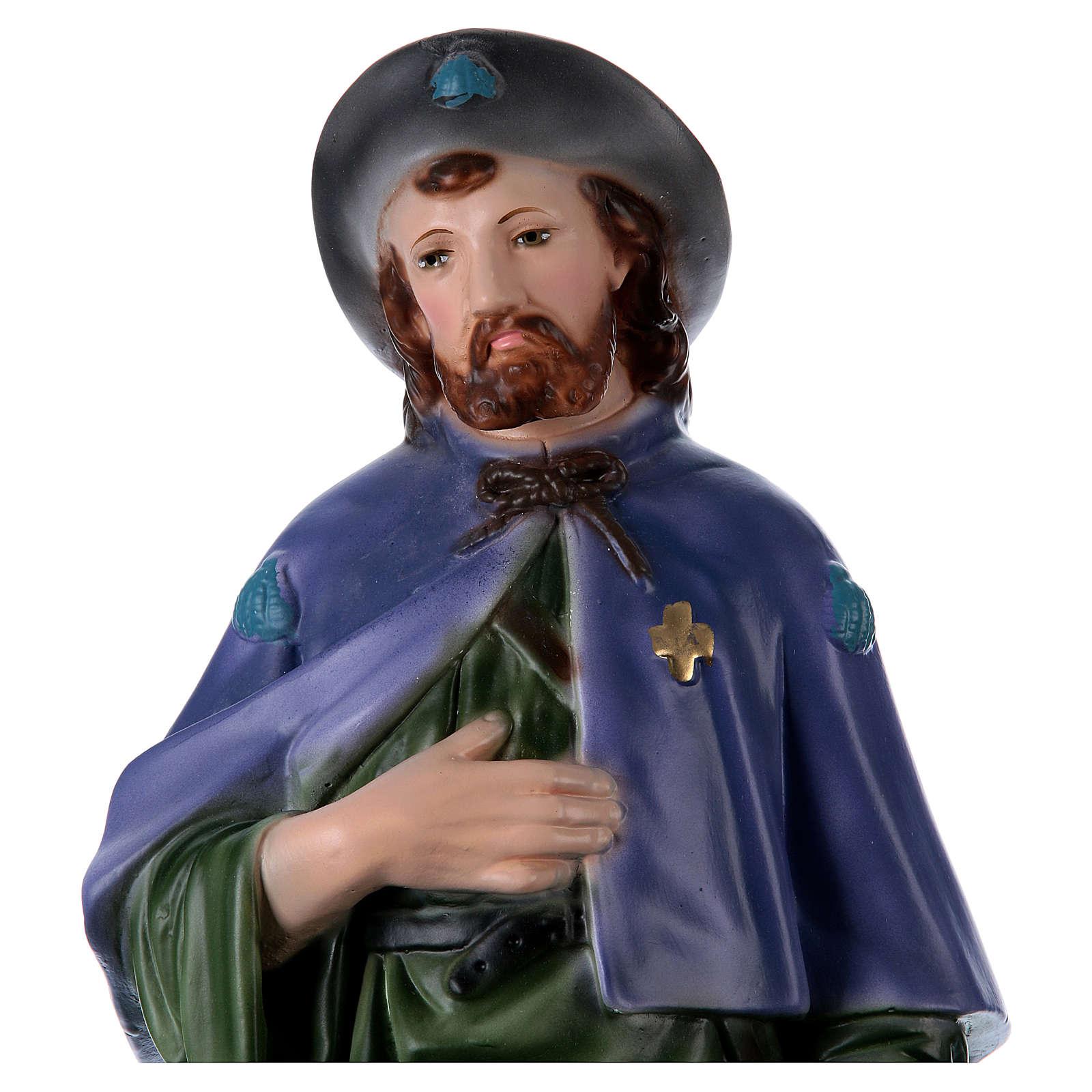 San Rocco 60 cm statua gesso  4