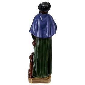 San Rocco 60 cm statua gesso  s5