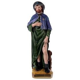 Imagens em Gesso: São Roque 60 cm em gesso pintado