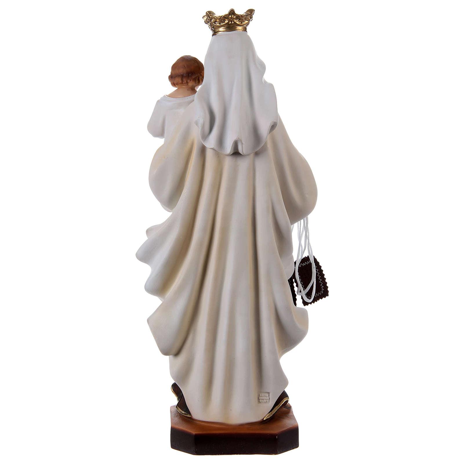 Madonna del Carmelo gesso 50 cm 4