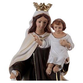 Madonna del Carmelo gesso 50 cm s2