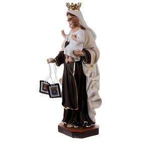 Madonna del Carmelo gesso 50 cm s3