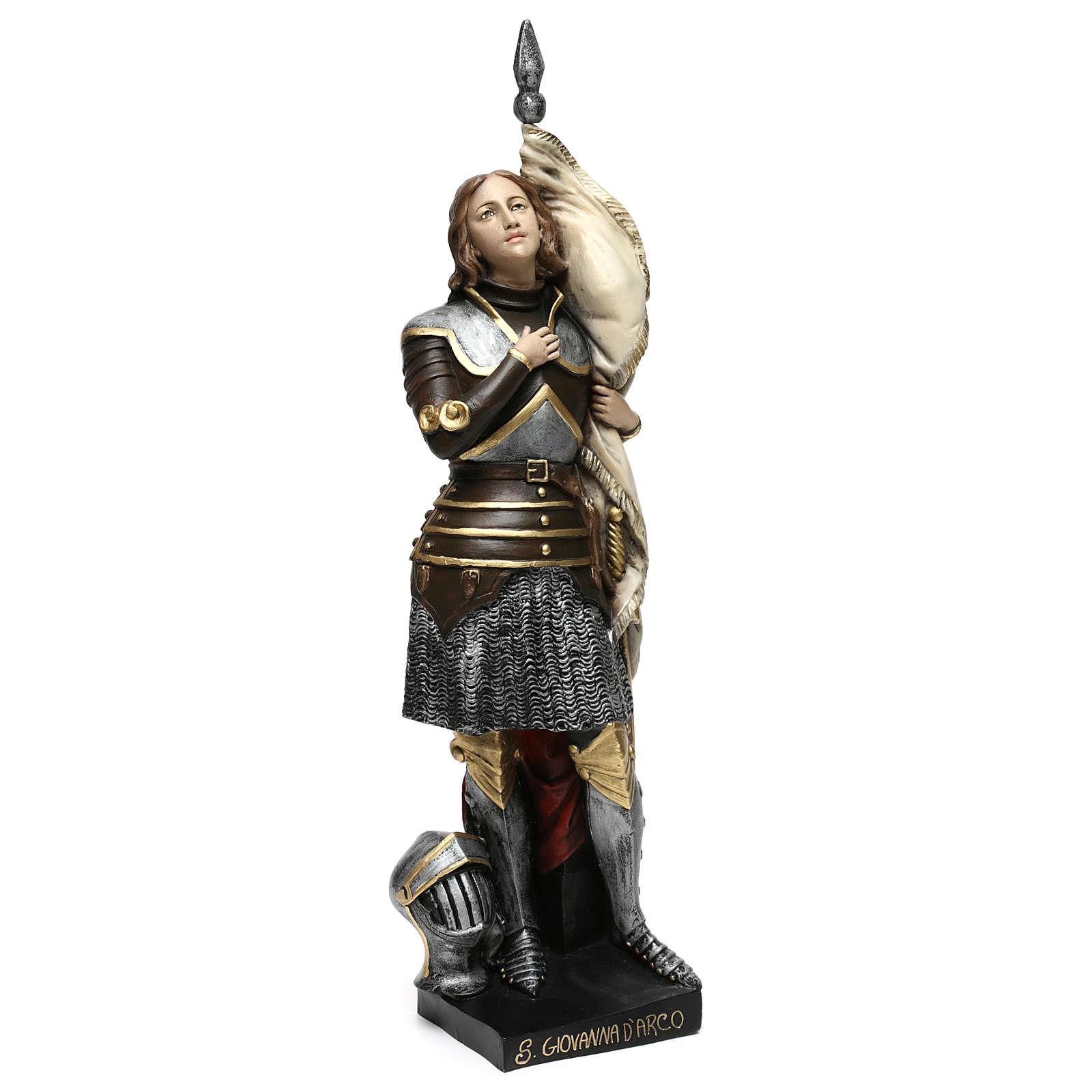 Statue Jeanne d'Arc 45cm bemalten Gips 4