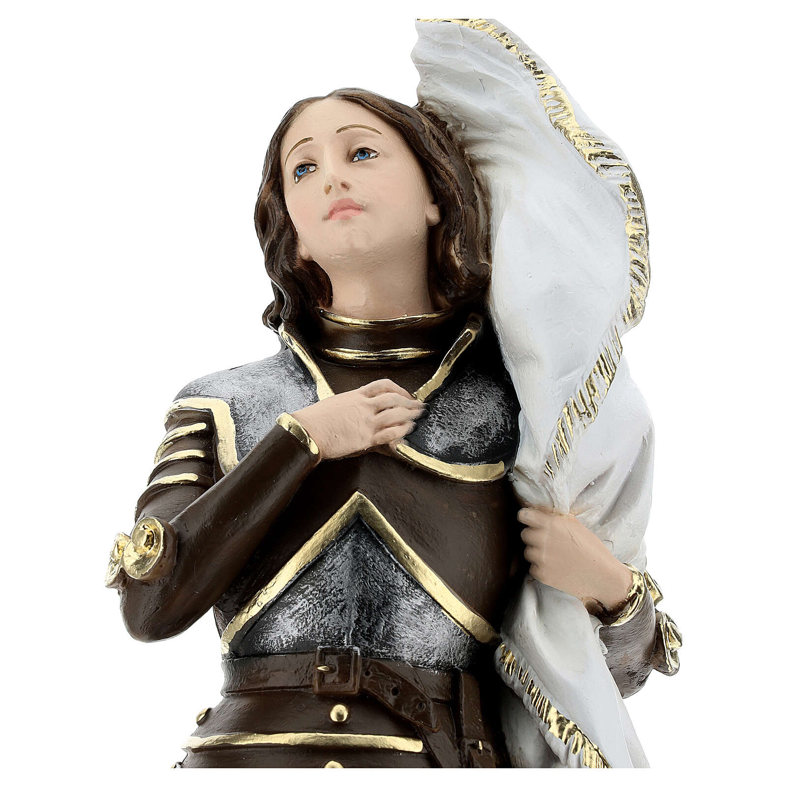 Joan of Arc 45 cm in mother-of-pearl plaster 4