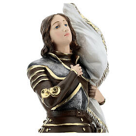 Joan of Arc 45 cm in mother-of-pearl plaster s4