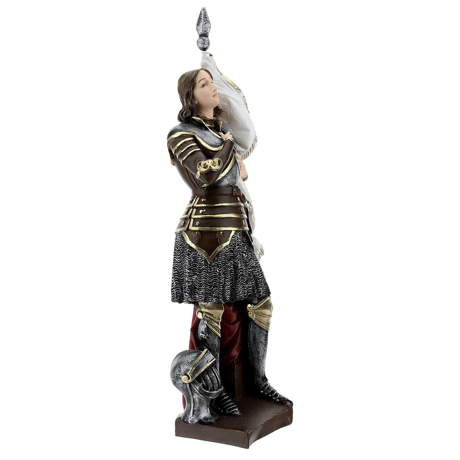 Estatua yeso nacarado Juana De Arco 45 cm 4