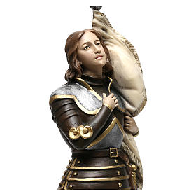 Estatua yeso nacarado Juana De Arco 45 cm s2