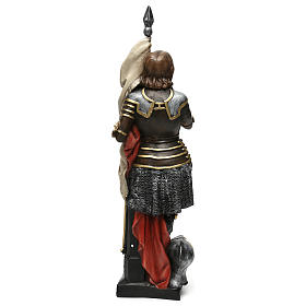 Estatua yeso nacarado Juana De Arco 45 cm s5