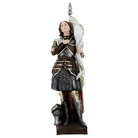 Estatua yeso nacarado Juana De Arco 45 cm s1