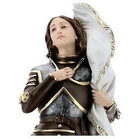 Estatua yeso nacarado Juana De Arco 45 cm s6