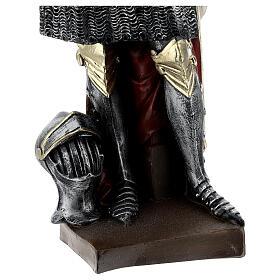 Estatua yeso nacarado Juana De Arco 45 cm s7