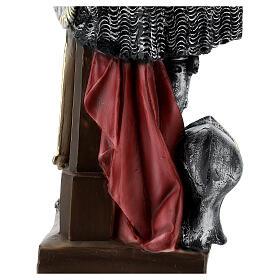 Estatua yeso nacarado Juana De Arco 45 cm s8