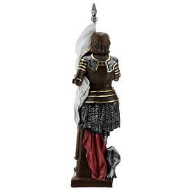 Estatua yeso nacarado Juana De Arco 45 cm s9