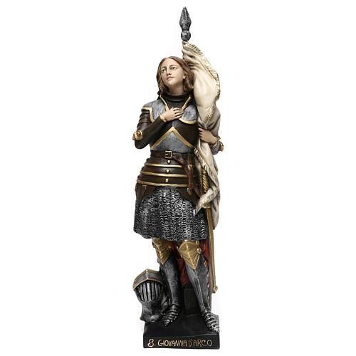 Estatua yeso nacarado Juana De Arco 45 cm 1