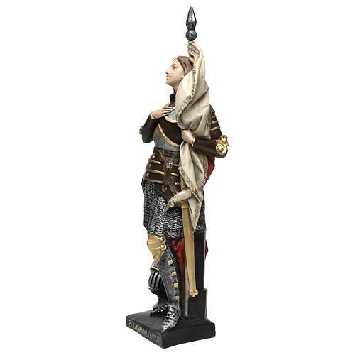 Estatua yeso nacarado Juana De Arco 45 cm 3