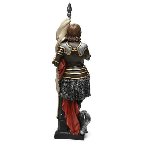Estatua yeso nacarado Juana De Arco 45 cm 5