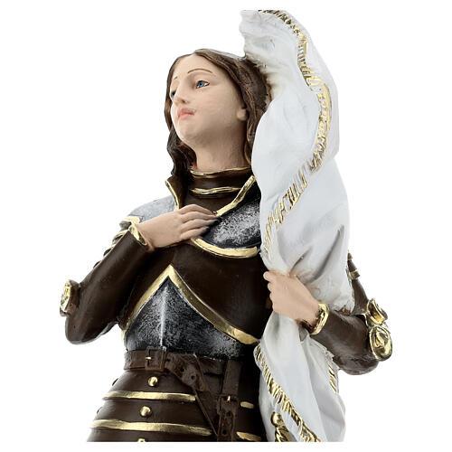 Estatua yeso nacarado Juana De Arco 45 cm 2